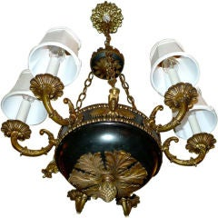 6 Candle Empire Style Chandelier