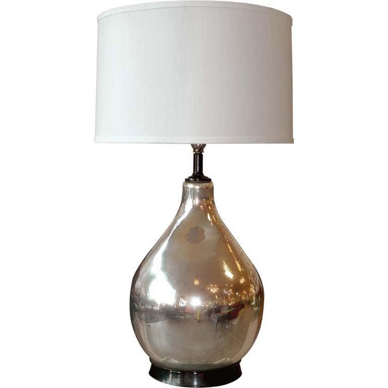 large single mercury glass lamp at 1stdibs. Black Bedroom Furniture Sets. Home Design Ideas