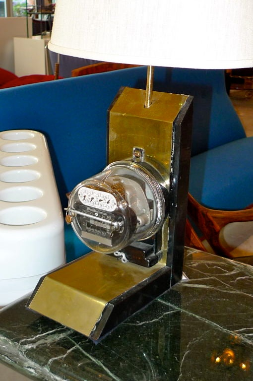 American Vintage Electric Company Meter Lamp For Sale