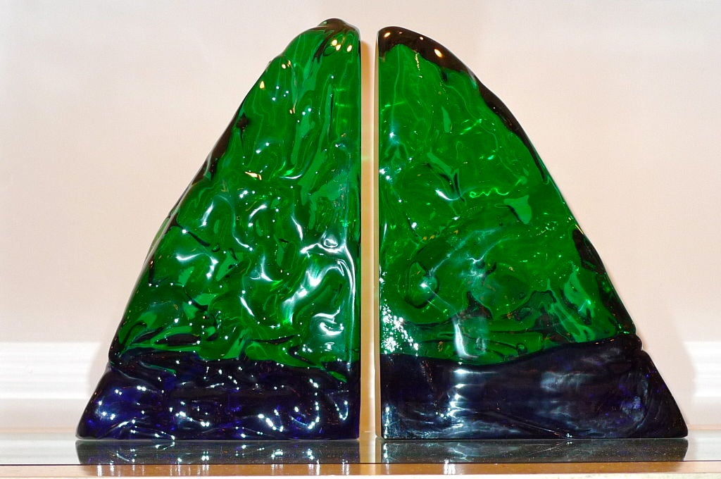 Pair of Bookends by Archimede Seguso For Sale 1