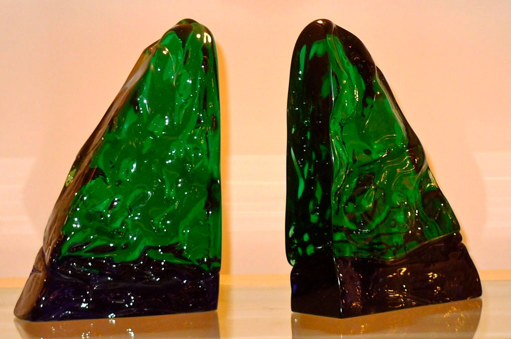 Pair of Bookends by Archimede Seguso For Sale 2
