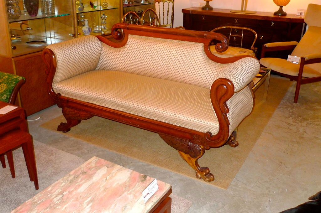 American Empire Settee 4
