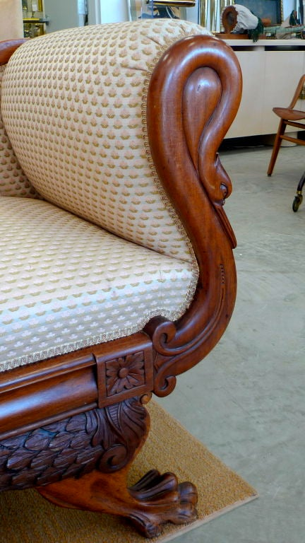 American Empire Settee 7