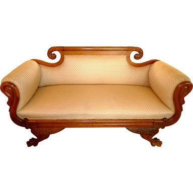 American Empire Settee