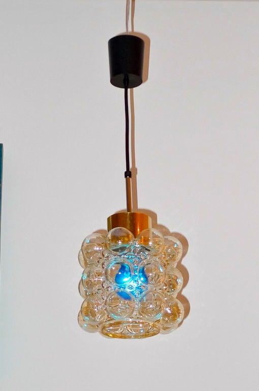 Austrian Bubble Glass Pendant at 1stdibs