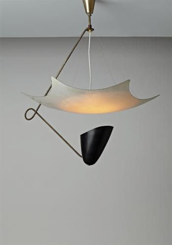 Italian Modernist Chandelier in the style of Angelo Lelii For Sale 4