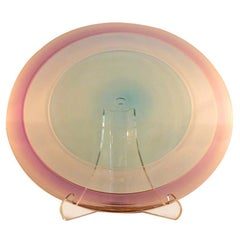 Robin Mix Large Scale Mouth-Blown Lavender Glass Charger