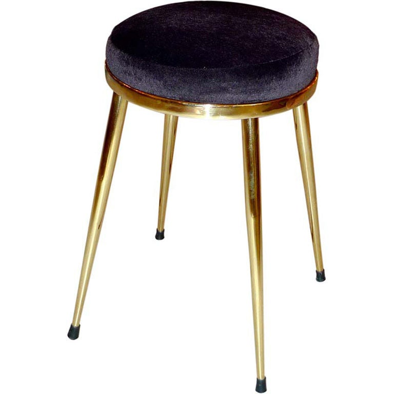 Solid Brass 4 Legged Vanity Stool At 1stdibs