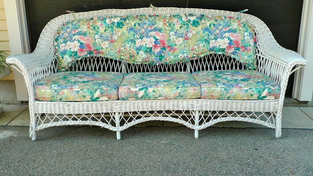 Antique Wicker Sofa At 1stdibs