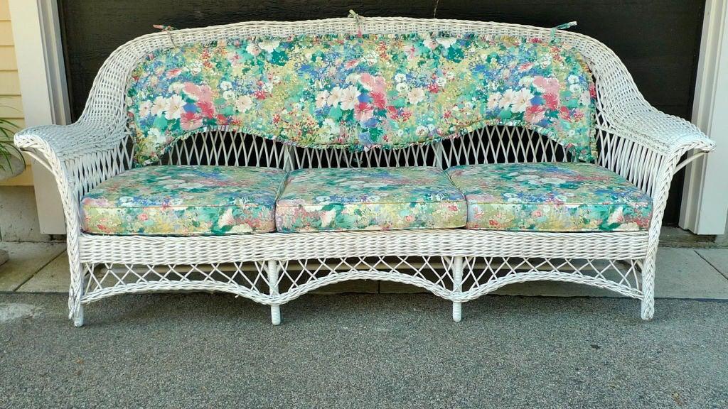 antique wicker sofa at 1stdibs. Black Bedroom Furniture Sets. Home Design Ideas