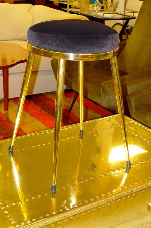 Solid Brass 4 Legged Vanity Stool At 1stdibs