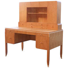 East Indian Satinwood Desk by Gregg Lipton