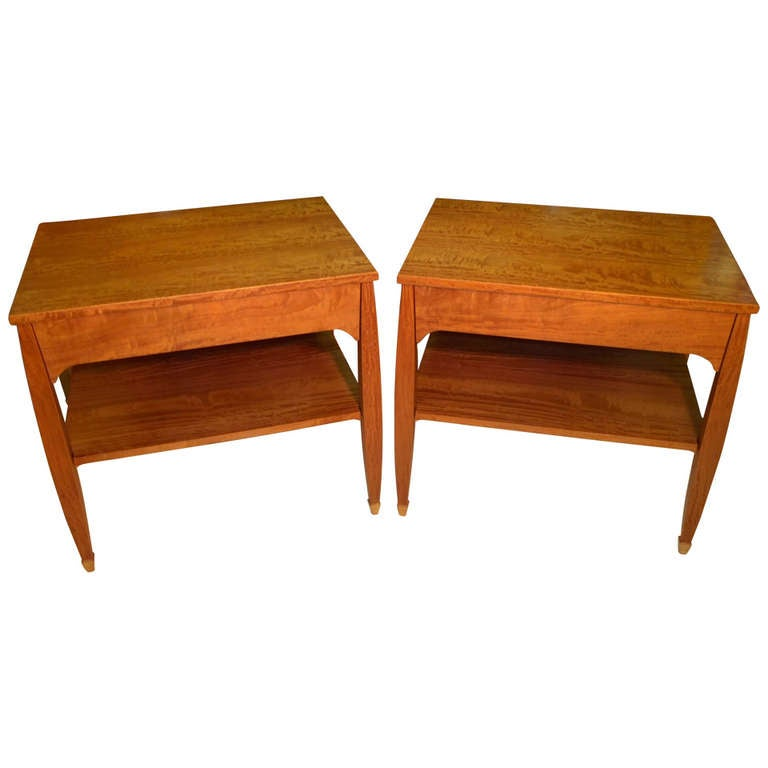 Pair Bed Side Tables by Gregg Lipton