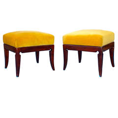 Pair of 1940's Italian Footstools