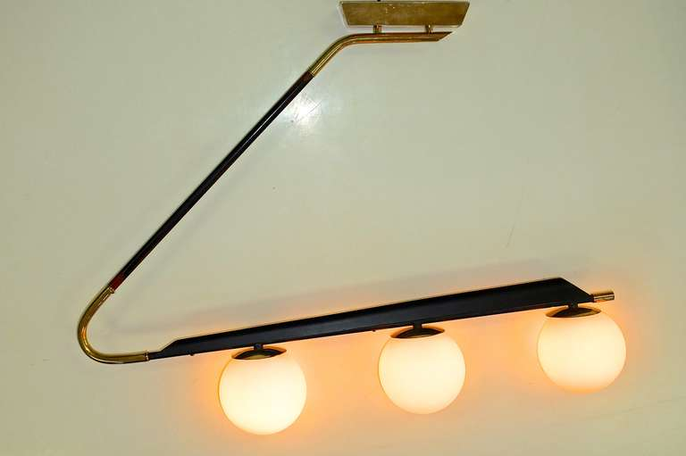 French 1950's Large Scale Wall or Ceiling Light by Lunel For Sale 2