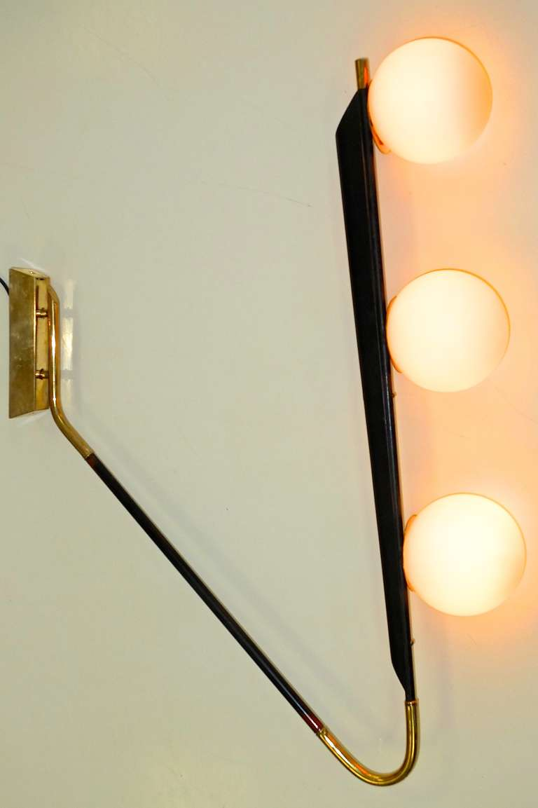 Mid-Century Modern French 1950's Large Scale Wall or Ceiling Light by Lunel For Sale