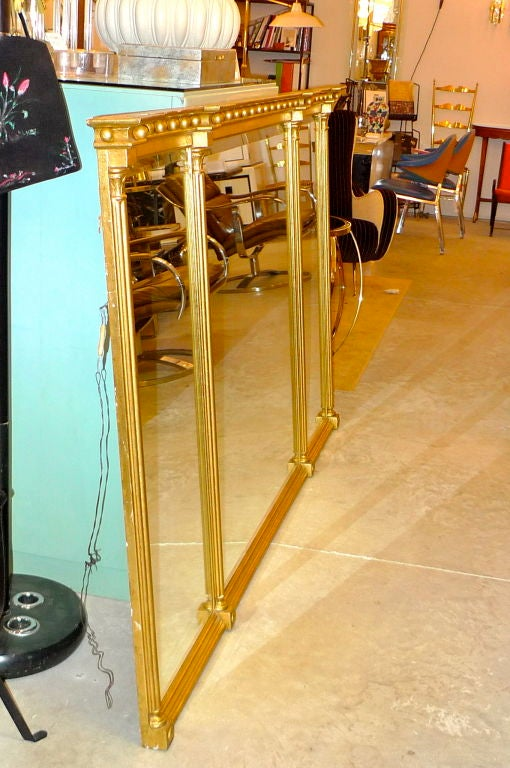7ft x 4ft gilt wood federal style 3 panel mirror at 1stdibs for 7 foot mirror