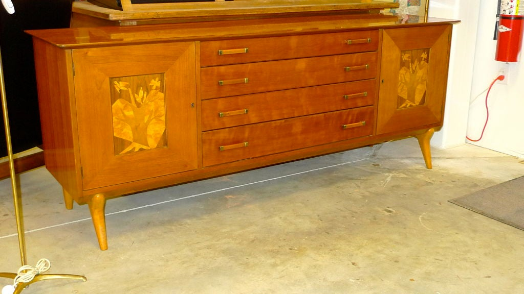 Mid-Century Modern Walnut Sideboard by Renzo Rutili for Johnson Furniture For Sale