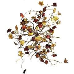 Metal Craft Cluster of Ivy Leaves, Signed