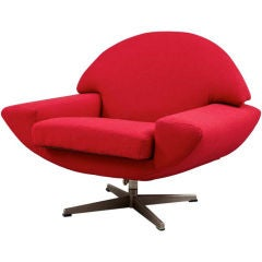 Mid Century Swivel Slipper Chair At 1stdibs