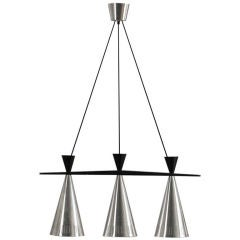Swedish Tri-Cone Linear Pendant Lamp