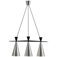 Pair of Swedish Tri-Cone Linear Pendant Lamps