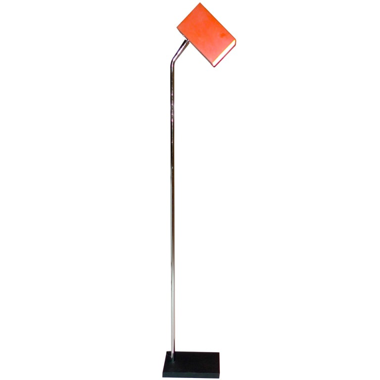 sonneman for george kovacs iton and chrome floor lamp at 1stdibs. Black Bedroom Furniture Sets. Home Design Ideas