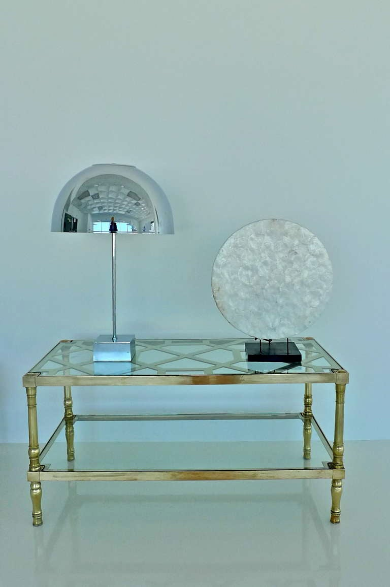 Mid-Century Modern Paul Mayen Chrome Dome Table Lamp for Habitat For Sale