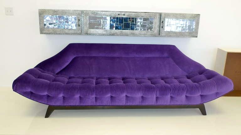 Gondola Sofa in Purple Velvet by Adrian Pearsall 4