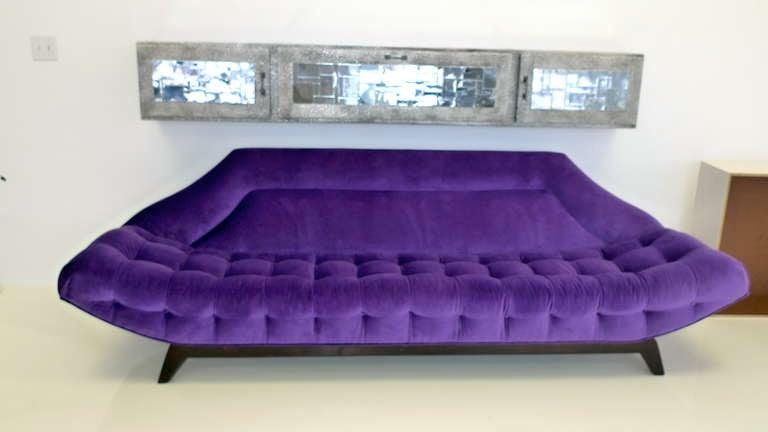 Gondola Sofa in Purple Velvet by Adrian Pearsall 8