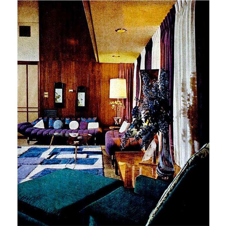 Gondola Sofa in Purple Velvet by Adrian Pearsall 7
