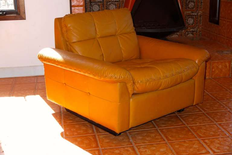 De Sede 1970's Leather Club Chair For Sale 2