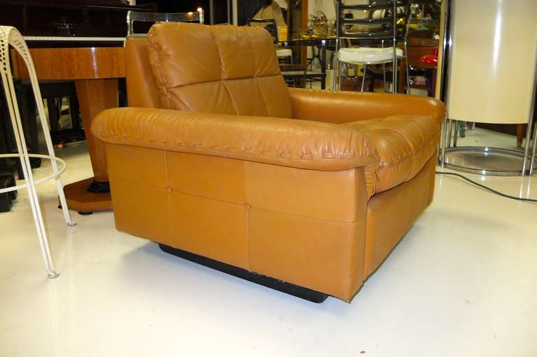Swiss De Sede 1970's Leather Club Chair For Sale