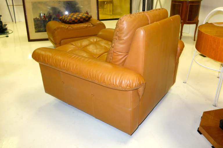 Late 20th Century De Sede 1970's Leather Club Chair For Sale