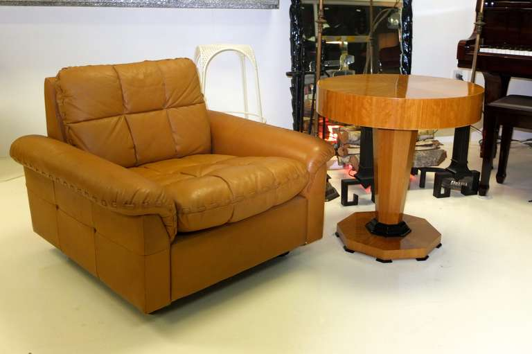 De Sede 1970's Leather Club Chair For Sale 1