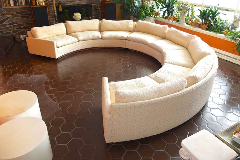 Milo Baughman For Thayer Coggin Circular Sectional Sofa At