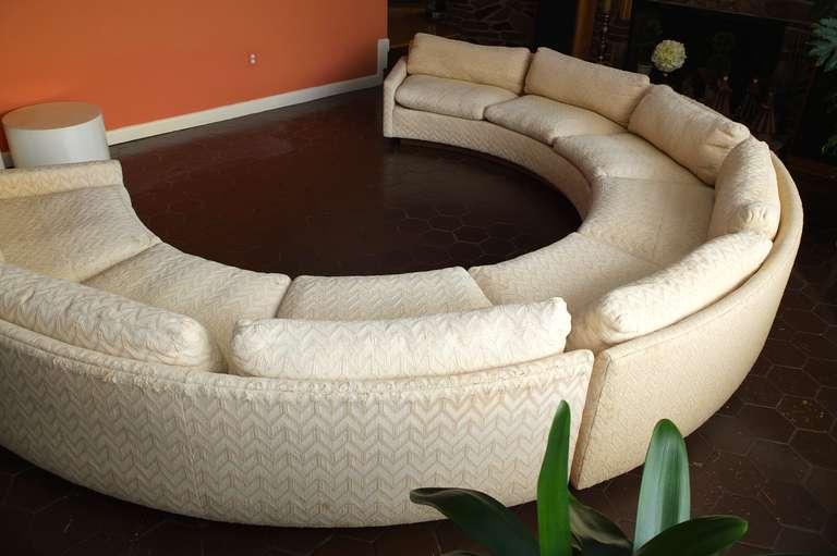Milo Baughman For Thayer Coggin Circular Sectional Sofa At