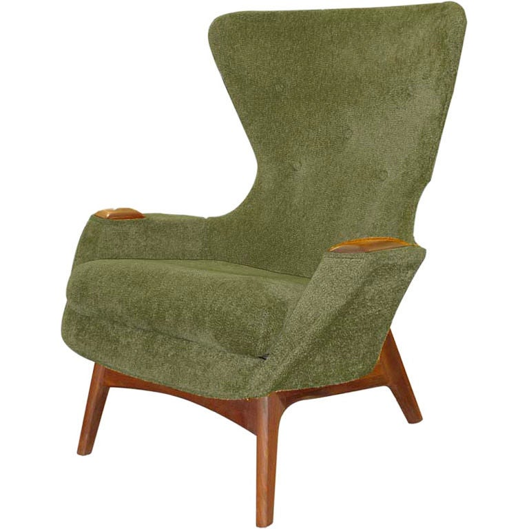 Adrian Pearsall Wing Back Lounge Chair At 1stdibs