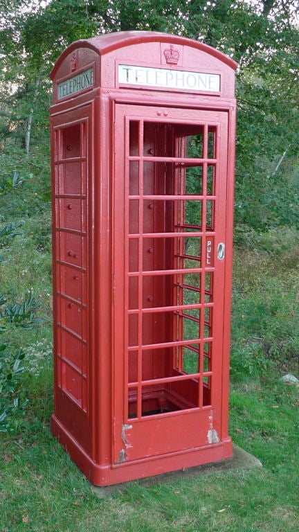 British Red Telephone Box - Model K6A 3