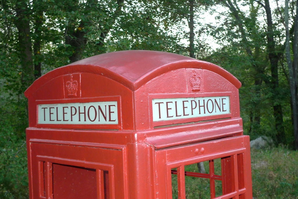 British Red Telephone Box - Model K6A 7