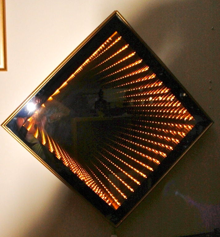 Opart Infinity Mirror Light Box At 1stdibs
