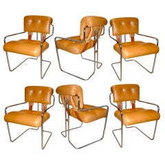 Set of 6 Tucroma Chairs by Mariani for Pace Collection