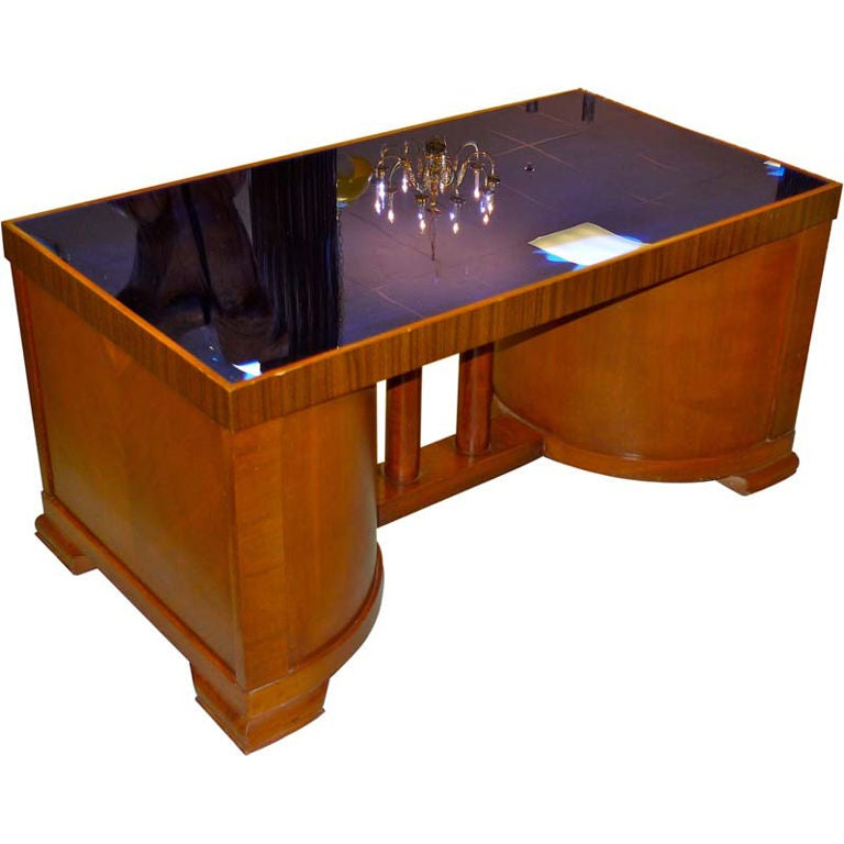 American Deco Tails Table With Cobalt Blue Mirror