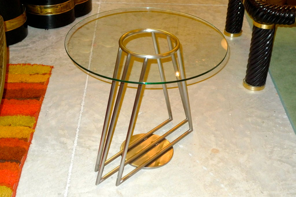 Italian Modernist Side Table From Hotel Excelsior Roma At 1stdibs