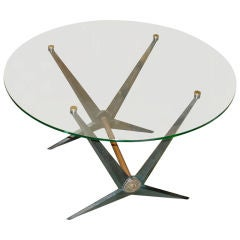 Rare Angelo Ostuni Round Cocktail Table
