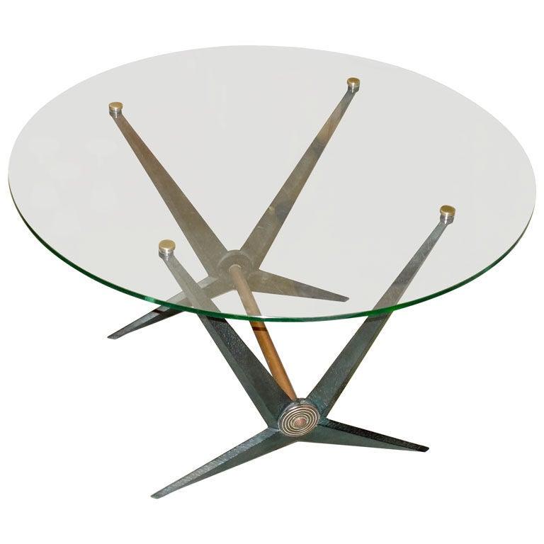 Rare Angelo Ostuni Round Cocktail Table