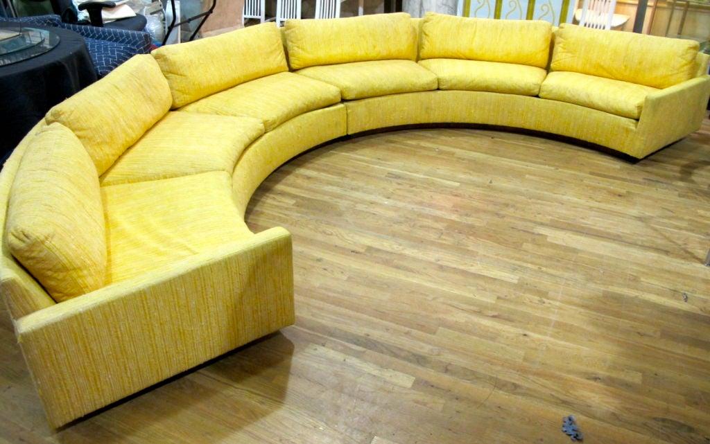 Milo Baughman For Thayer Coggin Semi Circular 2pc Sofa At