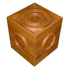 Jens H. Quistgaard for Dansk Teak Cube Ice Bucket