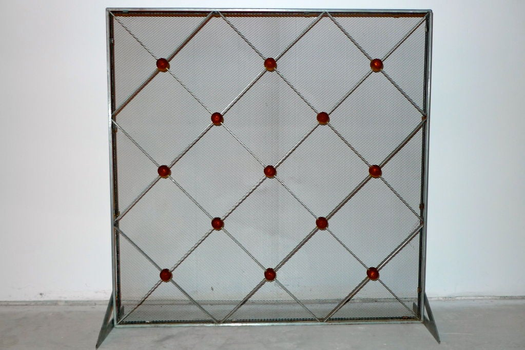 Modern deco fireplace screen at 1stdibs - Choosing the right contemporary fireplace screens ...