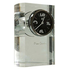 Pierre Cardin Lucite Table Clock